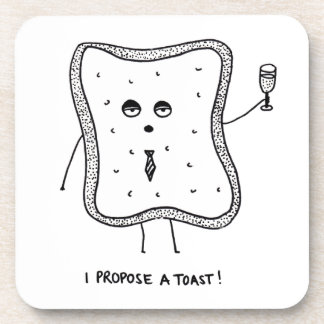 I Propose a Toast Beverage Coasters