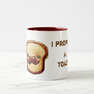I propose a toast Two-Tone coffee mug