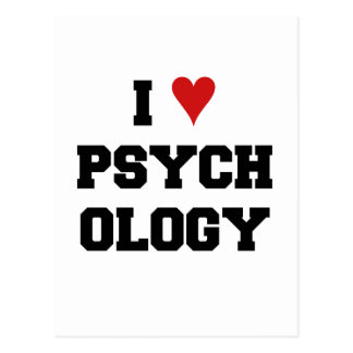 I ♥ PSYCHOLOGY POSTCARD