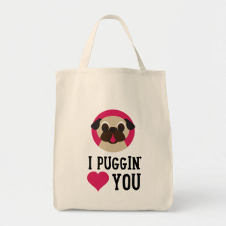 I Puggin' Love You Pug Tote