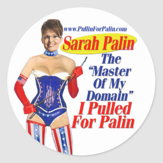 I Pulled For Palin - Master Of My Domain Stickers