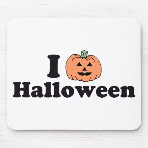 I Pumpkin Halloween Mouse Pad