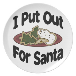 I Put Out for Santa Plate