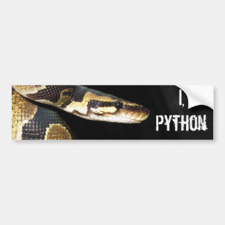 I, Python Bumper Sticker