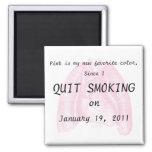 I quit smoking square magnet