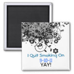 I quit, Yay! Square Magnet