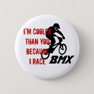 I Race BMX Button
