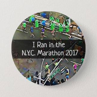 I Ran in the N.Y.C. Marathon 2017 Button