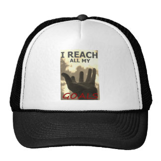 I reach all my goals trucker hat