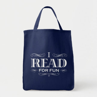 I Read For Fun Grocery Tote Bag