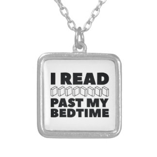 I Read Past My Bedtime Silver Plated Necklace