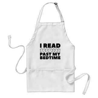 I Read Past My Bedtime Standard Apron