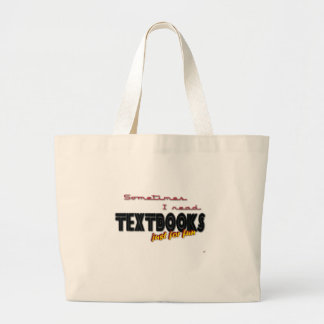 I Read Textbooks Large Tote Bag