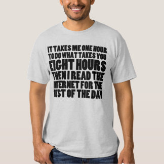 I Read the Internet for the Rest of the Day -Light Tee Shirts