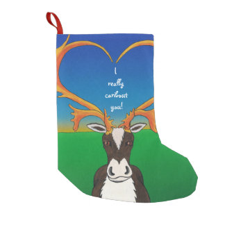 I Really Caribout You Small Christmas Stocking