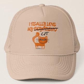 I really love my cat trucker hat