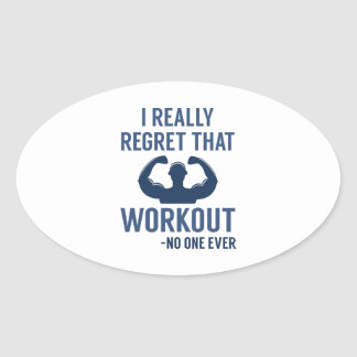 I Really Regret That Workout Oval Sticker