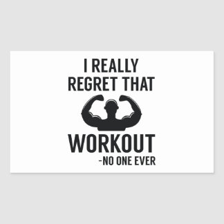 I Really Regret That Workout Sticker