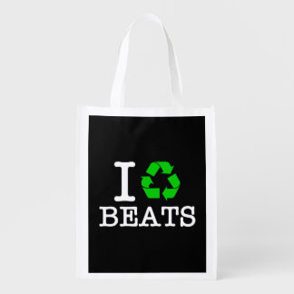 I Recycle Beats Reusable Grocery Bag