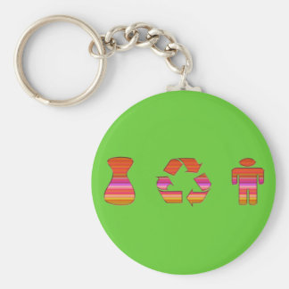 I Recycle Boys-Men Key Chain
