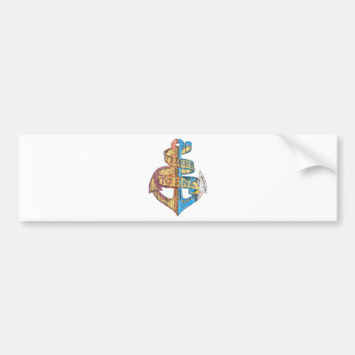 """""""I Refuse to Sink"""" Quote Nautical Anchor Bumper Sticker"""