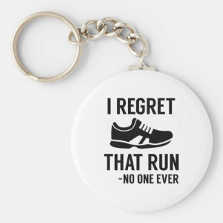 I Regret That Run Keychain