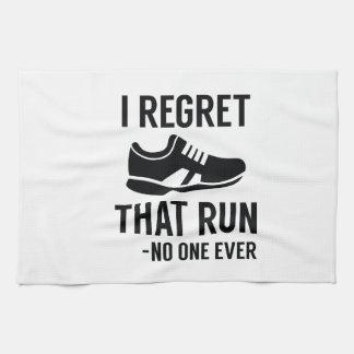 I Regret That Run Kitchen Towel