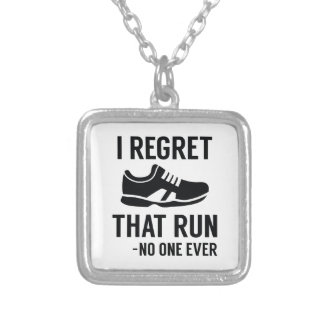 I Regret That Run Silver Plated Necklace