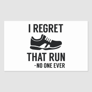 I Regret That Run Sticker