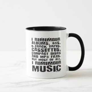 I Remember 45s, 8-tracks, cassettes, CDs Music Mug