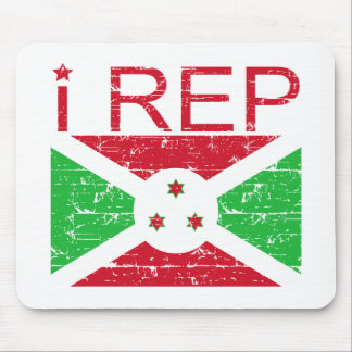 I rep Burundi Mouse Pad