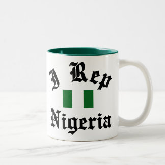 I rep Nigeria Two-Tone Coffee Mug