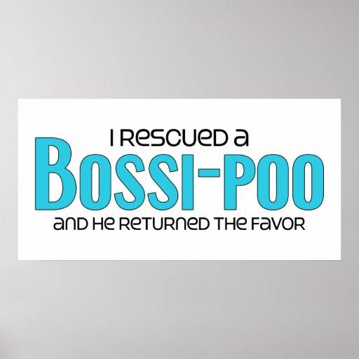 I Rescued a Bossi-Poo (Male) Dog Adoption Design Poster