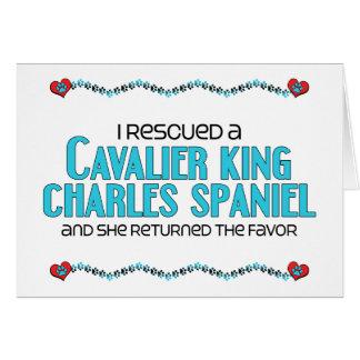 I Rescued a Cavalier King Charles Spaniel (Female) Card