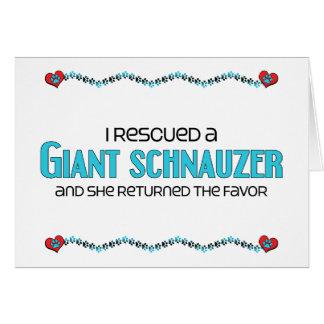 I Rescued a Giant Schnauzer (Female Dog) Greeting Card