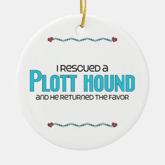 I Rescued a Plott Hound (Male Dog) Ceramic Ornament