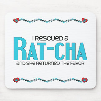 I Rescued a Rat-Cha (Female) Dog Adoption Design Mouse Pad
