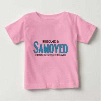 I Rescued a Samoyed (Female Dog) Baby T-Shirt