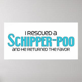I Rescued a Schipper-Poo (Male) Dog Adoption Print