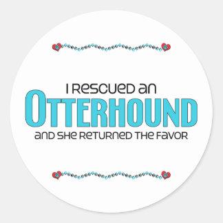 I Rescued an Otterhound (Female Dog) Round Sticker