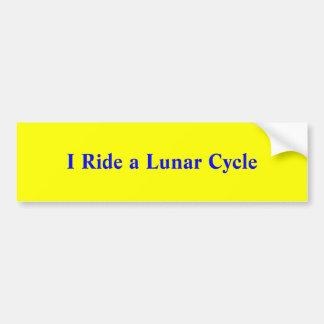 I Ride a Lunar Cycle Bumper Sticker