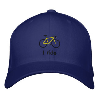 I ride embroidered hat