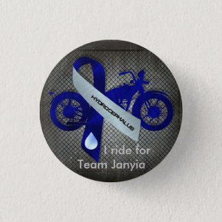 I ride for Team Janyia 1 Inch Round Button