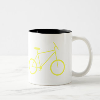 I ride my bike to work mug