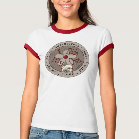 I Ride My Own - Circle (Red Ringer) T-Shirt