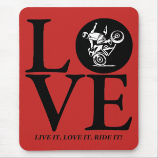 I ride (stoppie) mouse pad