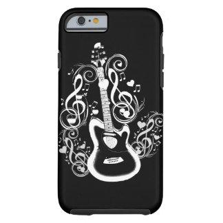 I Rock,Guitar&White music note_ Tough iPhone 6 Case