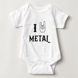 I Rock Heavy Metal Baby Bodysuit