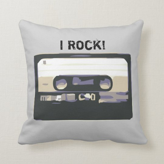 I Rock! Retro Music Cassete Pillow