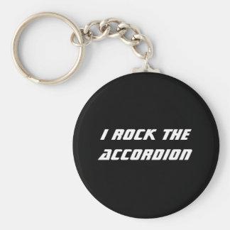 I Rock the Accordion Keychain